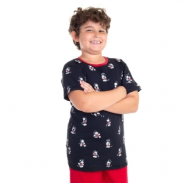 Camiseta Infantil Dupla Face Mickey Sketh