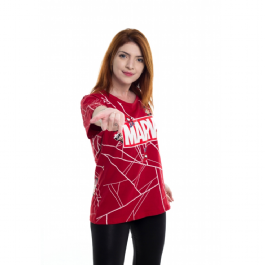 Camiseta Baby Look Marvel Game Spider Man - Mary Jane