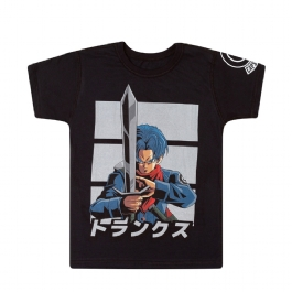 Camiseta Infantil Dupla Face Dragon Ball Super Goku Black